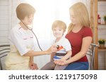pediatrist examinate young...   Shutterstock . vector #1219175098