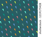 vector abstract triangles... | Shutterstock .eps vector #1219175428