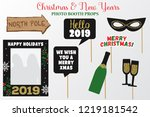 gold glitter christmas and new... | Shutterstock .eps vector #1219181542