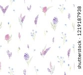 gentle seamless pattern with... | Shutterstock . vector #1219187938