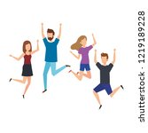 group of young people... | Shutterstock .eps vector #1219189228