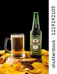 minsk  belarus   october 30 ... | Shutterstock . vector #1219192105