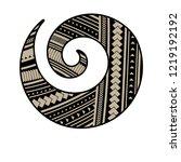 spiral symbol  based on silver... | Shutterstock .eps vector #1219192192