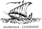 marine sailing vessel  | Shutterstock .eps vector #1219203535