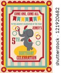 kid birthday invitation card... | Shutterstock .eps vector #121920682