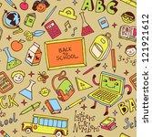 back to school. seamless... | Shutterstock .eps vector #121921612