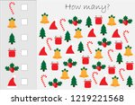 how many counting game with... | Shutterstock .eps vector #1219221568