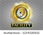 gold badge or emblem with...   Shutterstock .eps vector #1219230532