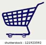 shopping supermarket cart.... | Shutterstock .eps vector #121923592
