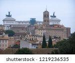 altare della patria  meaning...   Shutterstock . vector #1219236535