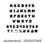alphabet bubble design.... | Shutterstock .eps vector #1219237345