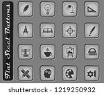 creative process web icons on... | Shutterstock .eps vector #1219250932