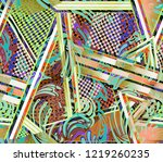 paisley seamless pattern with... | Shutterstock . vector #1219260235