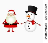 santa claus and christmas... | Shutterstock . vector #1219284325