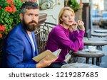 girl interested what he reading....   Shutterstock . vector #1219287685