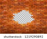 vintage brick wall frame on... | Shutterstock .eps vector #1219290892