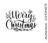 merry christmas   elegant... | Shutterstock .eps vector #1219294075