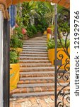entrance of a house in puerto... | Shutterstock . vector #121929766