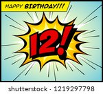 happy birthday postcard  in a... | Shutterstock .eps vector #1219297798