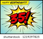 happy birthday postcard  in a... | Shutterstock .eps vector #1219297825
