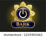 gold emblem with power icon... | Shutterstock .eps vector #1219301062