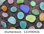 Colorful Sea Glass Pebbles