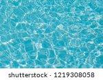 blue water ripple reflection in ... | Shutterstock . vector #1219308058