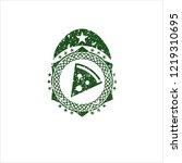 green pizza slice icon inside...   Shutterstock .eps vector #1219310695