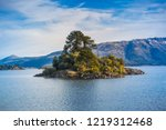alumine lake at villa pehuenia  ... | Shutterstock . vector #1219312468