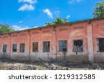 houses destroyed during the war ... | Shutterstock . vector #1219312585