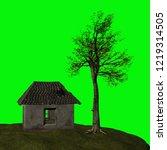 abandoned house  3d illustration | Shutterstock . vector #1219314505