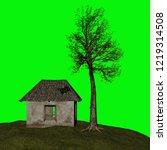 abandoned house  3d illustration | Shutterstock . vector #1219314508