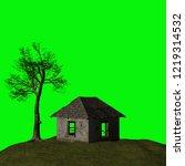 abandoned house  3d illustration | Shutterstock . vector #1219314532