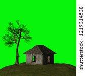 abandoned house  3d illustration | Shutterstock . vector #1219314538