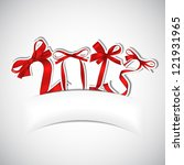 new year 2013 red ribbons...   Shutterstock .eps vector #121931965