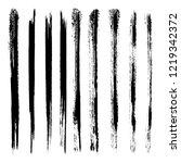 vector set of grunge brush... | Shutterstock .eps vector #1219342372