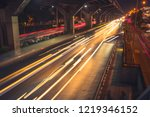 fast cars on highway in evening ...   Shutterstock . vector #1219346152