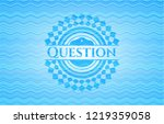 question sky blue water wave... | Shutterstock .eps vector #1219359058