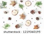 christmas festive styled... | Shutterstock . vector #1219360195