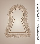 keyhole with patterns on the... | Shutterstock .eps vector #1219360915