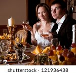bride and groom on their... | Shutterstock . vector #121936438