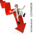 3d illustration businessman... | Shutterstock . vector #1219368358