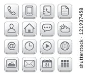 mobile phone icons   silver... | Shutterstock .eps vector #121937458