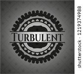 turbulent dark icon or emblem | Shutterstock .eps vector #1219374988