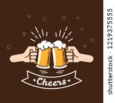 beer background concept for... | Shutterstock .eps vector #1219375555