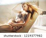 sensual blonde beauty posing | Shutterstock . vector #1219377982