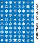 set of different blue... | Shutterstock .eps vector #1219379065