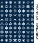 set of different blue... | Shutterstock .eps vector #1219379068