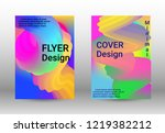 cover design. abstract wave... | Shutterstock .eps vector #1219382212