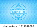 disappointing light blue water... | Shutterstock .eps vector #1219398385